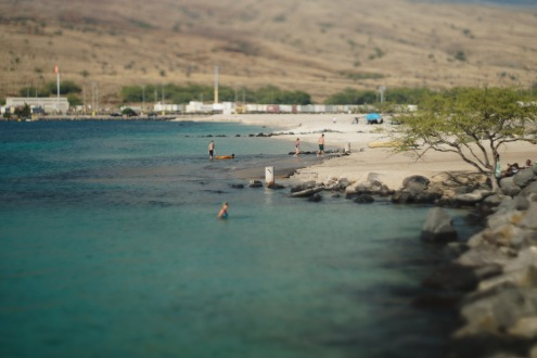 kawaihae beach with king tide